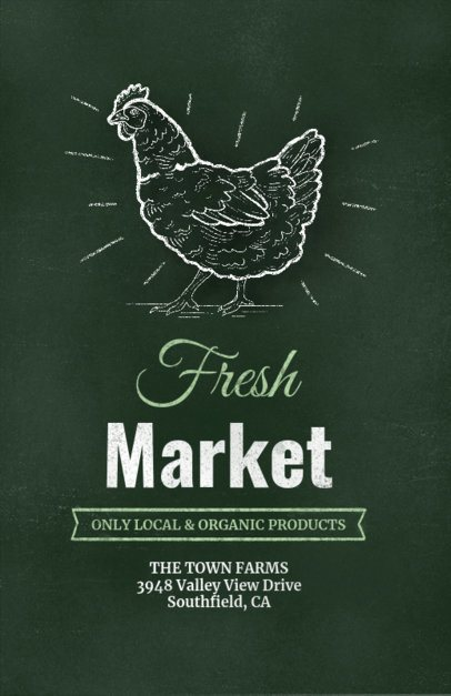 Online Flyer Template for an Organic Products Market 265a