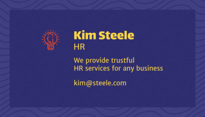 Business Card Template for Human Resources Consulting Services 1035b