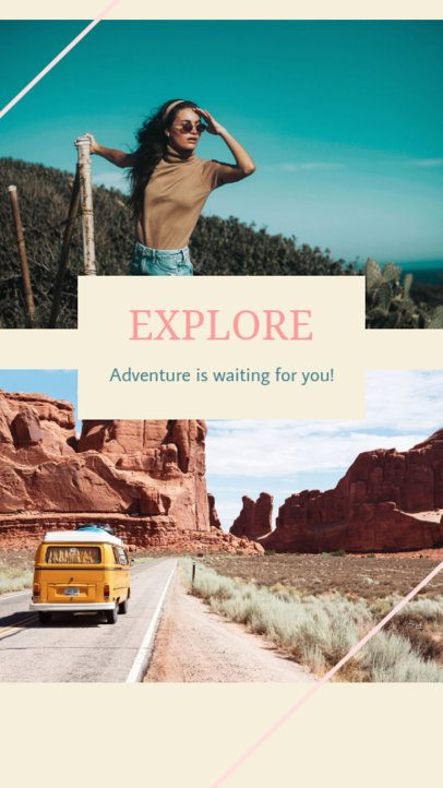 Adventurous Travel Instagram Story Maker 943a