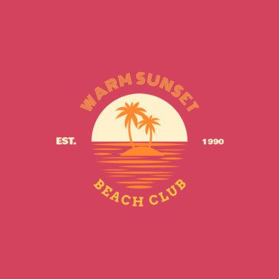 Beach Club Logo Maker 1758