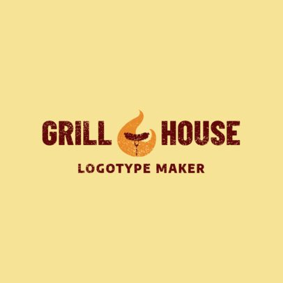 Grill House Logo Maker for a BBQ Restaurant 1676a
