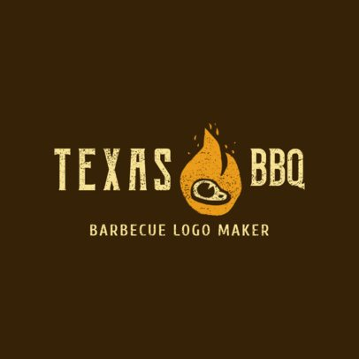 BBQ Restaurant Logo Maker for a Texas Style Restaurant 1676d