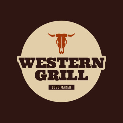 Logo Maker for a Western Grill Restaurant 1677a