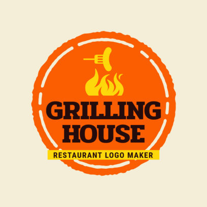 Grilling House Restaurant Logo Maker 1677b
