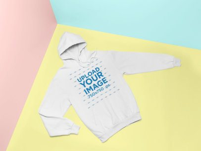 Hoodie Mockup with a Colorful Background 25140