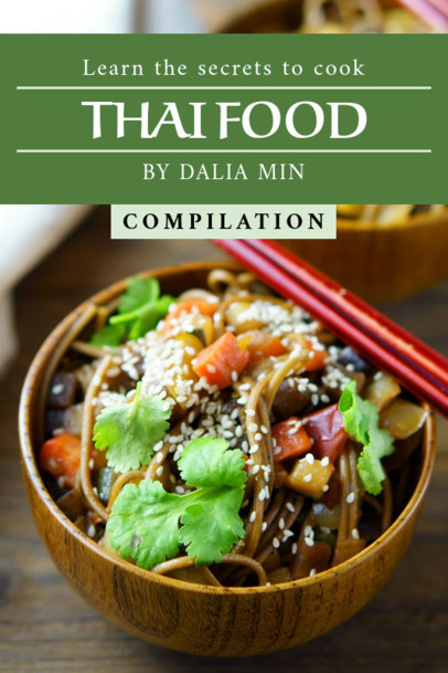 Thai Food Recipe Book Cover Maker 910c