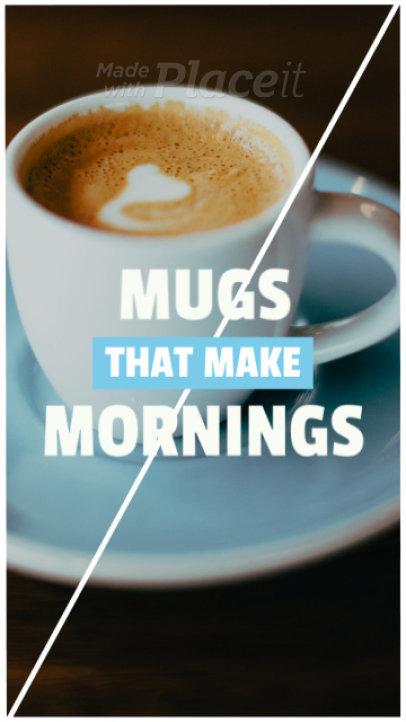 Sales Instagram Story Maker for a Coffee Mug Promo Video 268d 1019