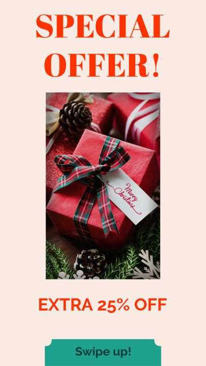 Instagram Story Template for a Special Christmas Offer 985