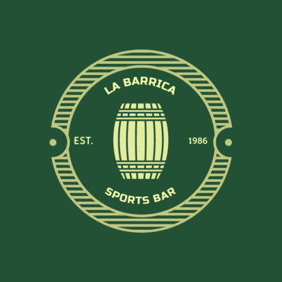 Sports Bar Logo Maker with a Circular Badge 1686e