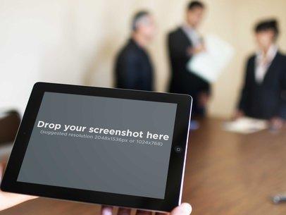 Black iPad Landscape Business Meeting