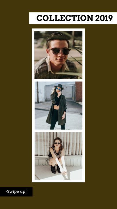 Clothing Brand Instagram Story Maker with Collage Layout 944d
