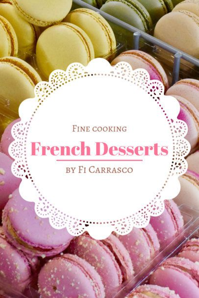 French Dessert Recipe Book Cover Template 924b