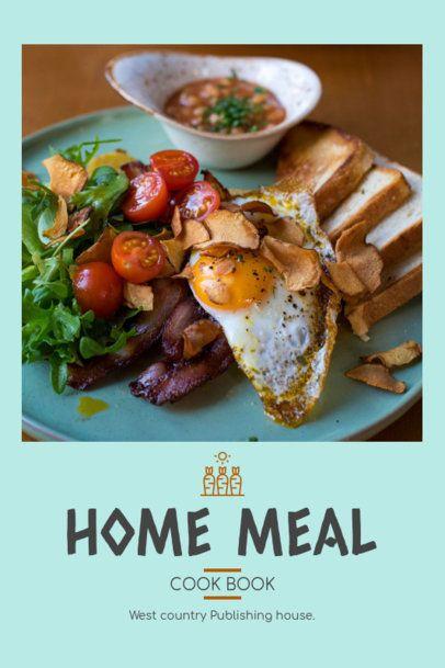 Home Meal Recipe Book Cover Template 912e