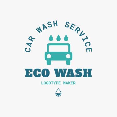 Car Wash Logo Maker  with Car Clipart 1755b