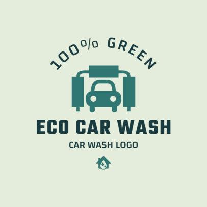 Eco Car Wash Logo Maker 1755e