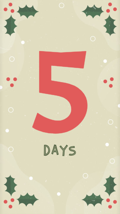 Holiday Countdown Instagram Story Template 1001c