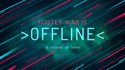 Twitch Offline Banner Generator with Diagonal Lines 981a