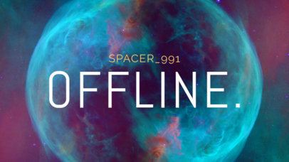 Offline Twitch Banner Generator with Space Background 981c