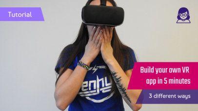 YouTube Thumbnail Maker for a VR App Tutorial 894b