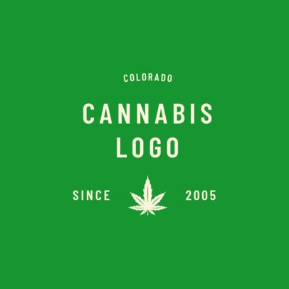 Minimalist Weed Logo Creator 1782