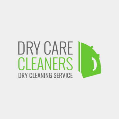 Laundry Logo Maker for a Dry Cleaning Service 1775e