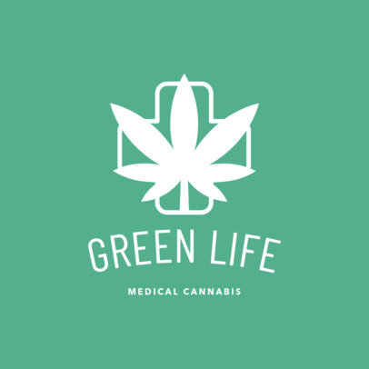 Weed Logo Maker for Medical Cannabis Shop 1778e