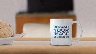 Parallax Video Mockup of a Coffee Mug on a Breakfast Table 25649