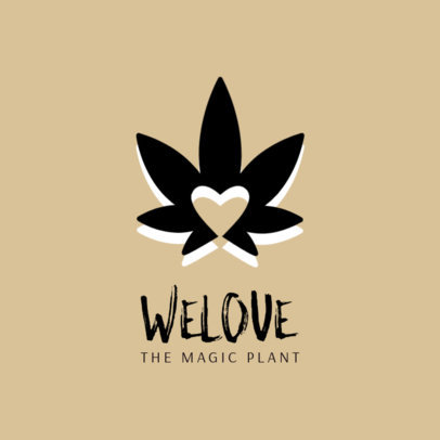 Weed Logo Maker with Cannabis Graphic 1780e