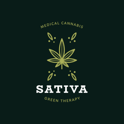 Marijuana Logo Maker with a Cannabis Sativa Graphic 1779c