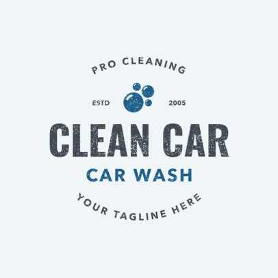 Logo Generator for a Car Wash Business 1756a