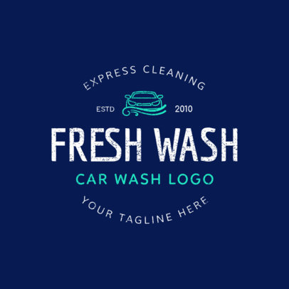 Car Wash Logo Maker for an Express Cleaning Car Wash Business 1756b