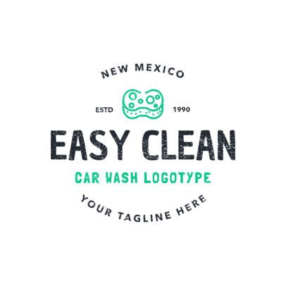 Car Wash Logo Design Template for an Eco Car Wash Business 1756d
