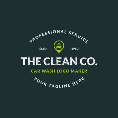 Car Wash Logo Template with Car Graphic 1756e