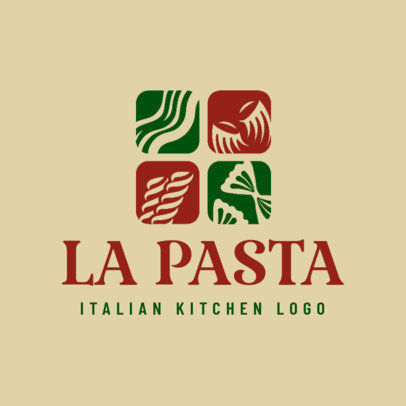 Italian Kitchen Logo Maker for an Italian Restaurant Logo 1663b