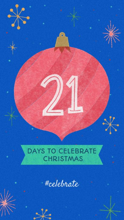 Instagram Story Generator for a Christmas Countdown 999c