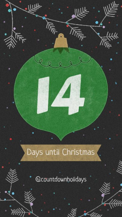 Instagram Story Creator for a Christmas Countdown Story 999d