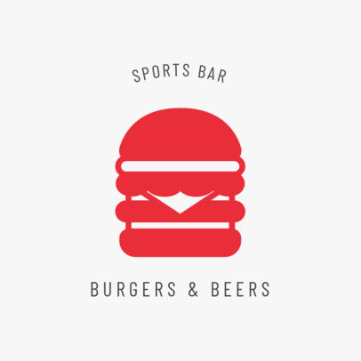 Sports Bar Logo Maker with a Hamburger Icon 1684a