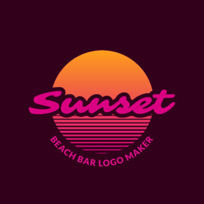 Bar Logo Maker For a Beach Bar Club 1759