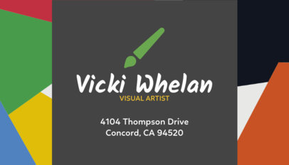 Business Card Maker for Visual Artists 128e