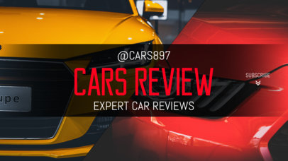 YouTube Banner Maker for a Car Review Channel 1073