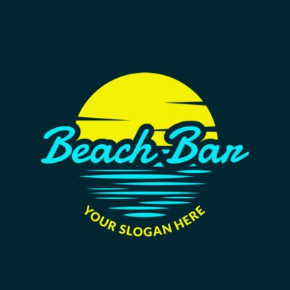 Bar Logo Maker for a Beach Club with Sunny Skies Clip-Art 1759b
