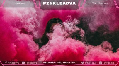 Twitch Overlay Template with Pink Hues 1063d