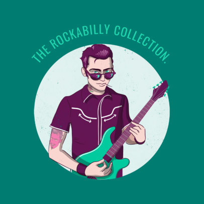 Album Cover Maker for a Rockabilly Collection 478e