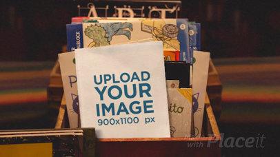 Parallax Video Mockup of a Book in a Kids' Book Shop 25880