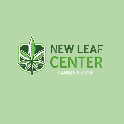 Cannabis Store Logo Maker for a Recreational Dispensary Logo 1781d