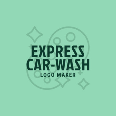 Express Car Wash Logo Template 1757c