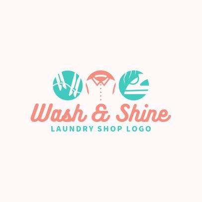 Laundry Shop Logo Template 1773c