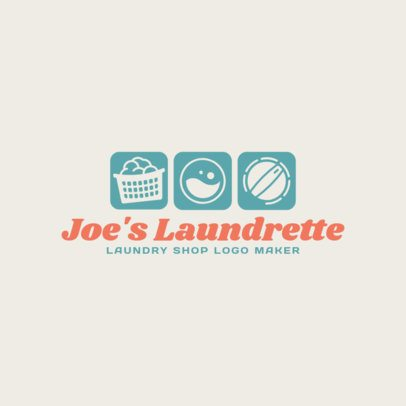 Laundry Shop Logo Maker 1773e