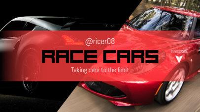YouTube Banner Maker for Race Car Vloggers 1073d