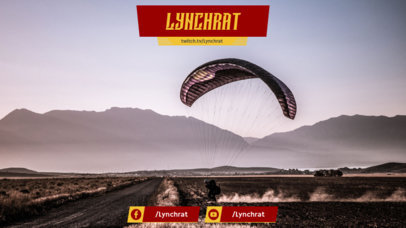 Twitch Overlay Design Template with Extreme Sports Images 1066b